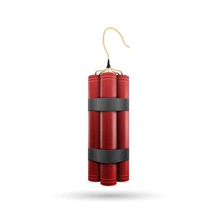 Red Dynamite isolated on a white background Illustration