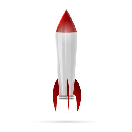 로켓 우주선에 격리 된 화이트