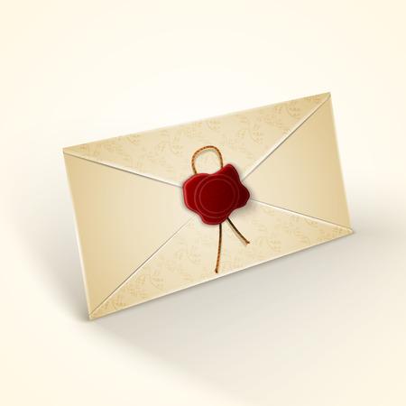 old envelope: Old vintage style envelope