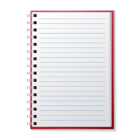 Abierto Cuaderno en blanco Página forrado Foto de archivo - 33331295
