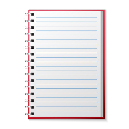 Ffnen Blank Lined Seite Notebook Standard-Bild - 33331295