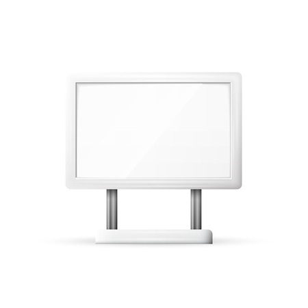 outdoor blank billboard: Blank Outdoor Billboard with Place for Message