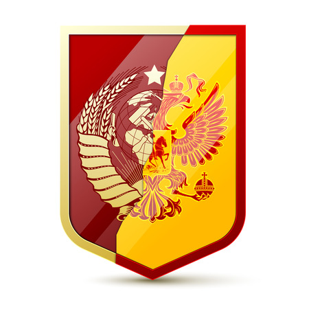 Coat of arms Soviet Union and Russia Illustration