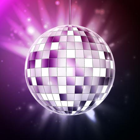 Disco ball. Disco background Vector