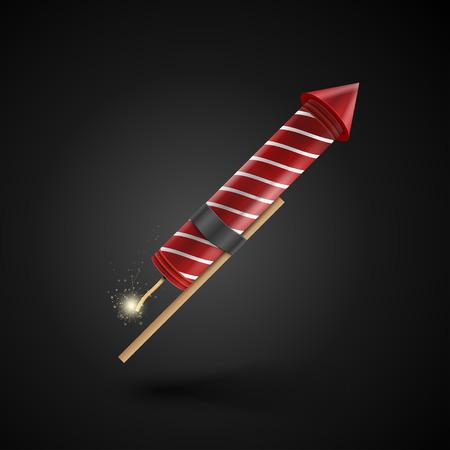 rocket bomb: Firework rocket isolated on black background