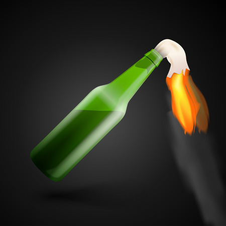 molotov: Illustration of Molotov cocktail bomb. Illustration