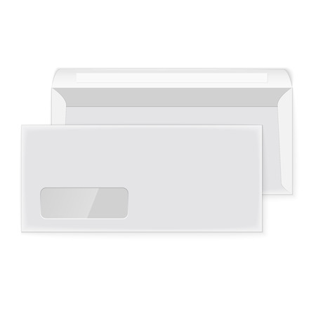 Two blank envelopes (opened and closed) Vector