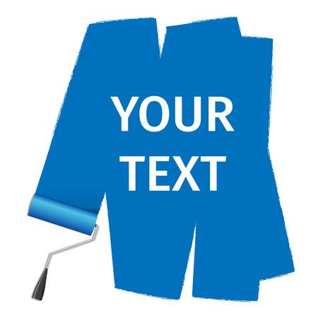 roller brush: Cepillo giratorio vectorial para el texto