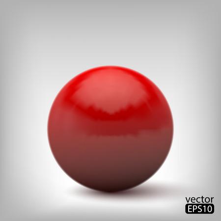 3d red ball Vector