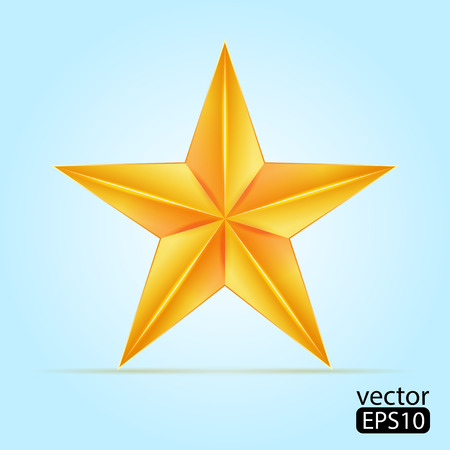 hollywood christmas: Gold star Illustration