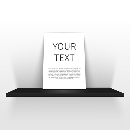 pieces of furniture: white poster on a shelf