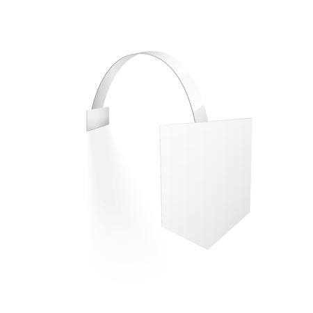 advertising wobbler: Vector Blank Wobbler with Transparent Strip Isolated on a White Background