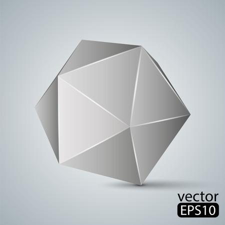 icosahedron: Illustration of geometric figure. Icosahedron
