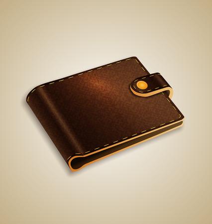 empty wallet: Brown wallet Illustration