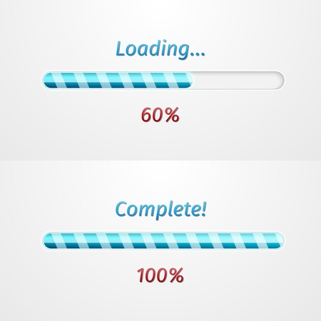 pre loader: Blue loading bars, great vector illustration, EPS Illustration