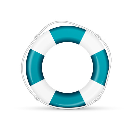 ring buoy: blue life buoy. Vector, excellent vector illustration
