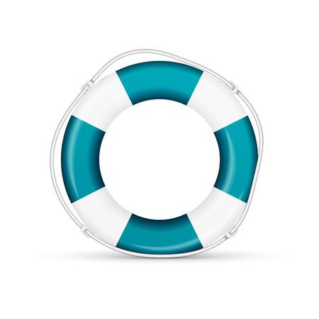 lifejacket: blue life buoy. Vector, excellent vector illustration
