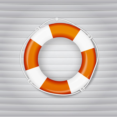ring buoy: yellow life buoy. Vector, excellent vector illustration