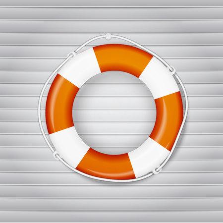 lifejacket: yellow life buoy. Vector, excellent vector illustration