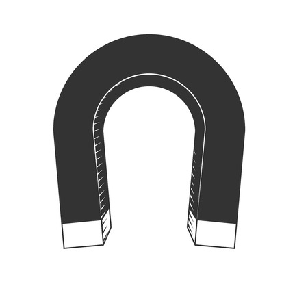 magnetite: Horseshoe magnet isolated on white background, excellent vector illustration