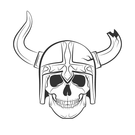 Human skull on isolated white background, excellent vector illustration Vector