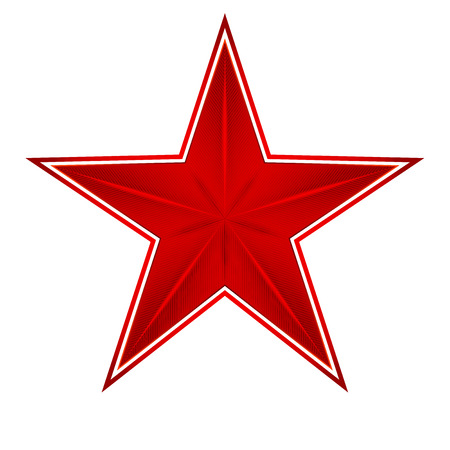 red star on a white background, excellent vector illustration, EPS Vector