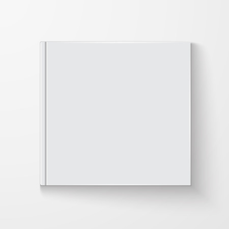 isolated on a white background: Blank book cover