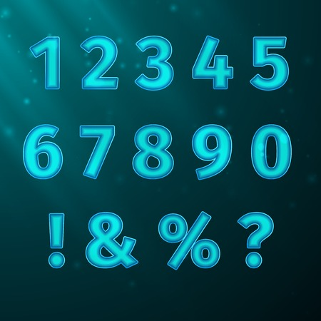typeface: Vector numerals Typeface Font, excellent vector illustration