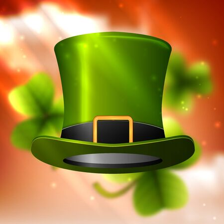 march 17: Shamrock green, clover design, perfect for St. Patricks Day.  Illustration