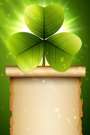 celtic shamrock: Shamrock green, clover design, perfect for St. Patricks Day Illustration