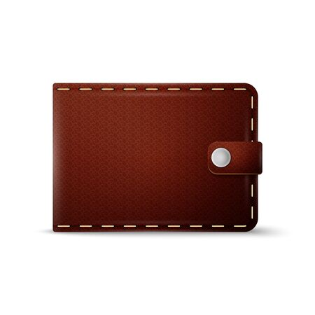 empty wallet: Brown wallet on white background