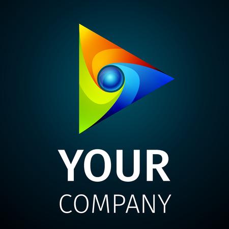 interface web: R�sum� ic�ne de lecture color� vectoriel sur fond sombre Illustration