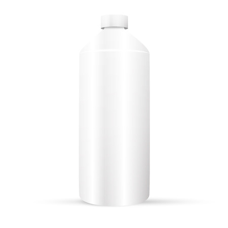 medical waste: Plastic white bottle Illustration