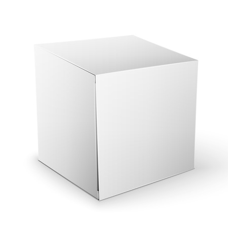 white boxes: White Product Cardboard square Package Box