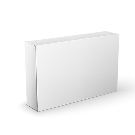 White Product Cardboard rectangular Package Box. 矢量图像