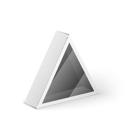 objetos cuadrados: Blanca tri�ngulo de cart�n del producto caja del paquete