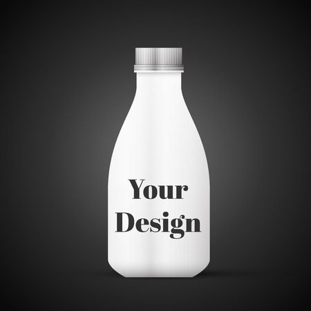 Blank Milk or Juice Pack isolated on black background, excellent vector illustration Vector