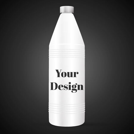 Illustration of Bottle with cleaner isolated on black background