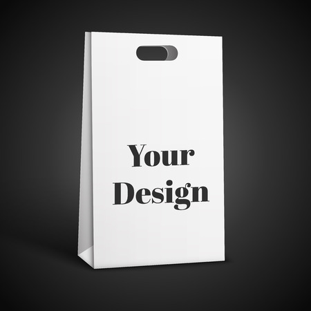 clearance: Vector shopping bag icon . Illustration isolated on Black  background.