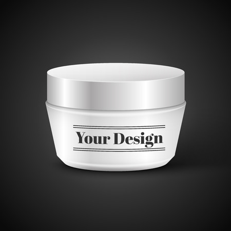 Vector Blank Cosmetic Container for Cream or Gel, excellent vector illustration,  Vector