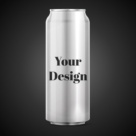 drink can: Metal Aluminum Beverage Drink Can. Ready For Your Design. Product Packing Vector