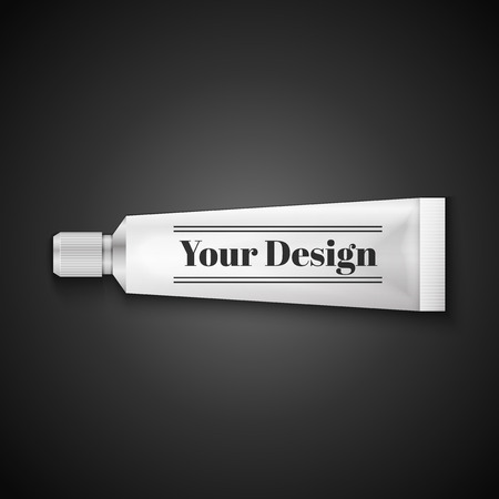 silver white: Tube Of Toothpaste, Cream Or Gel Grayscale Silver White Clean.