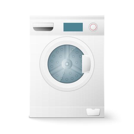 front loading: A washing machine isolated on white background