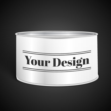 tin can: White Blank Tincan Metal Tin Can, Canned Food, excellent vector illustration, EPS 10