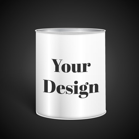 tinned: White Blank Tincan Metal Tin Can, Canned Food, excellent vector illustration, EPS 10