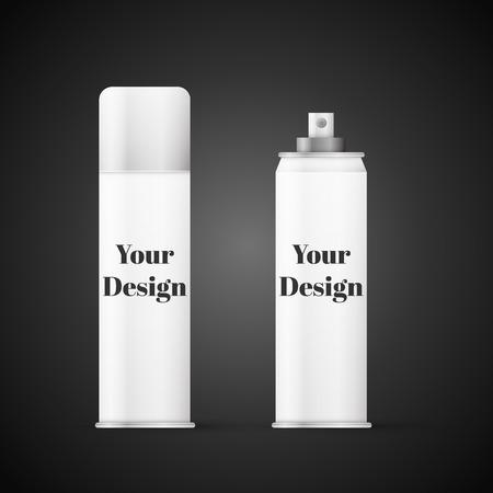 hairspray: Botella de metal blanco con tapa pulverizador para cosm�ticos, perfume, desodorante o ambientador o laca.