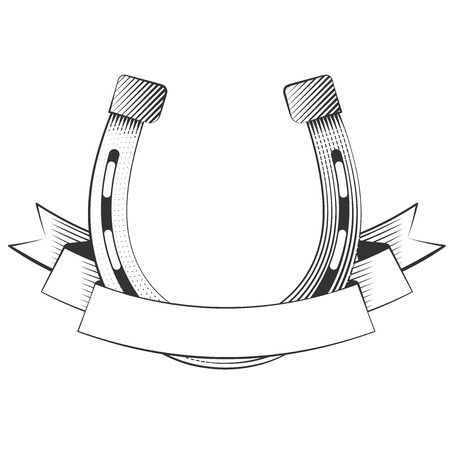 Metal horseshoe on a white background, excellent vector illustration, EPS 10
