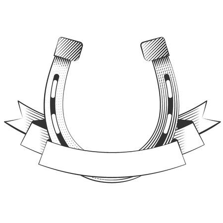 hierro: Herradura de metal sobre un fondo blanco, excelente ilustración vectorial, EPS 10 Vectores