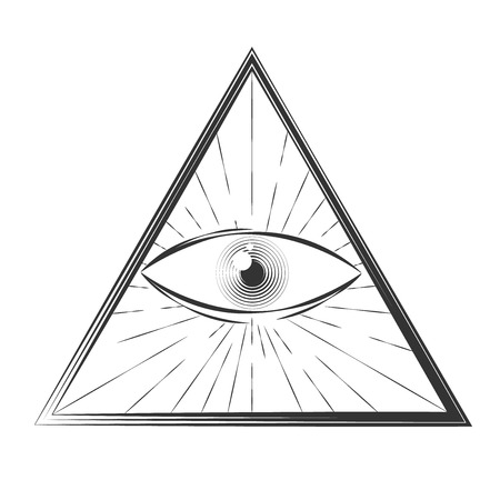 All seeing eye symbol, excellent vector illustration, EPS 10 Vector