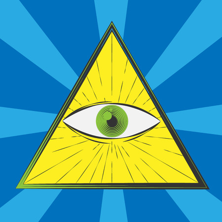 all seeing eye: All seeing eye symbol, excellent vector illustration, EPS 10